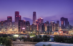 Beijing Skyline (Sarmu) Tags: china city light sunset wallpaper urban building skyline architecture night skyscraper lights twilight highresolution downtown cityscape view skyscrapers nightshot widescreen beijing 1600 clear highdefinition resolution 1200 wtc cbd hd  bluehour wallpapers  guomao hdr 1920 vantage 2010 vantagepoint ws 1080 1050 chaoyang 720p 1080p urbanity 1680 720 2560     chaoyangdistrict cctvbuilding yintaicentre pinguo baiziwanlu  sarmu  wtciii pinguoshequ baiziwanroad 3 worldtradecentertoweriii 3 baiziwanrd
