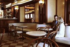 real talk (donchris!) Tags: street woman 6 man male coffee caf germany deutschland photography donna mujer hessen femme kaffee uomo alemania mann frau allemagne caff hombre germania homme hanau kawa eiscaf  kobieta mczyzna niemcy mazzucco hammerstrase  63450