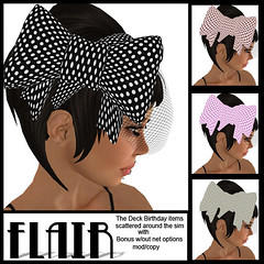 Flair - Polka BowNet Headband