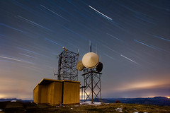 Solar Winds (thanks Greg) (Ben Canales) Tags: longexposure oregon radio stars dawn star twilight peak marys antennae corvallis startrails radiotower maryspeak coastalrange startrail noctography singlelongexposure phelomath