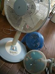 我が家の扇風機3台