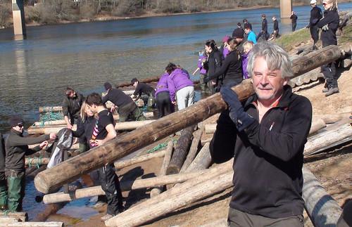 OAS 2010 - Tag 2 - Holzfloßfahrt und Trekking