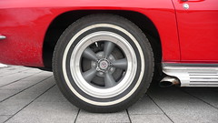 Chevrolet Corvette Sting Ray wheel (Ilia Goranov) Tags: red classic chevrolet car wheel vintage germany deutschland stingray retro vehicle rim corvette                    shtuttgart