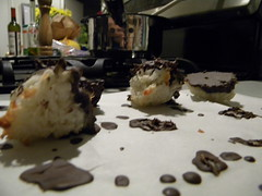 Everybody In Love (Stasia23) Tags: dessert counter coconut chocolate drop crispy macarrons