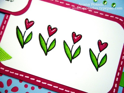 Heart Flowers Special card (3)
