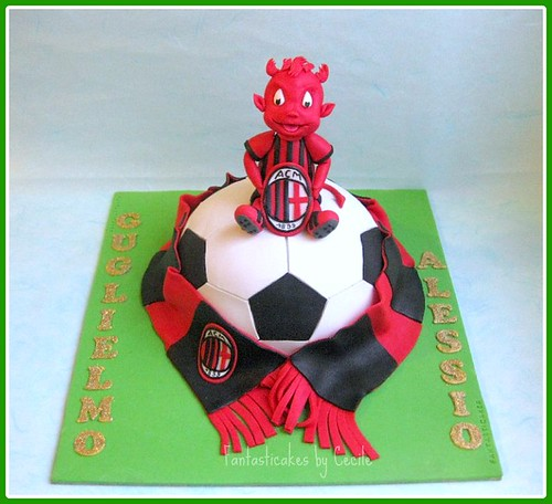 Torta Diavoletto Milan/ Milan Devil Mascot Cake