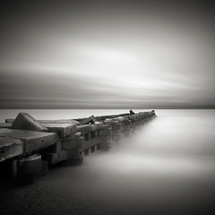 Edgewater: Study II (Jeff Gaydash) Tags: longexposure blackandwhite water square pier seascapes greatlakes edgewater lakescapes edgewaterpark nd110