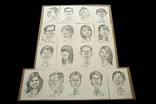 caricatures in pencil for Hello Technology