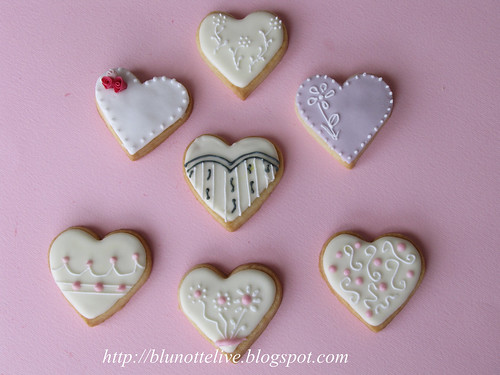 wedding cookies with royal icing run out