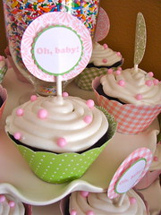 Baby Shower (BambinaMia) Tags: decorations party food cupcakes lanterns decor candybar babyshower sprinkle dessertbar