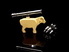 """Baaazooka (Joriel """"Joz"""" Jimenez) Tags: macro sheep lego military tan bazooka rockets baa peacekeepers onblack antiterrorism baabaa nzdf brickarms brickforge cpkf"""