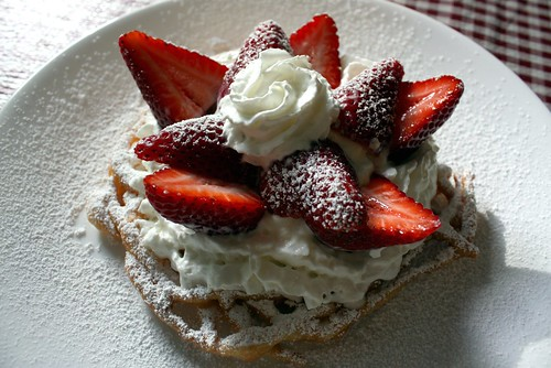 Funnel Cake with Fresh Fruit