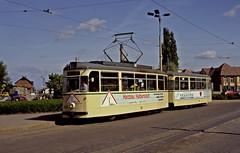 49  Halberstadt  17.05.92 (w. + h. brutzer) Tags: analog germany deutschland nikon tram tramway strassenbahn streetcars halberstadt webru