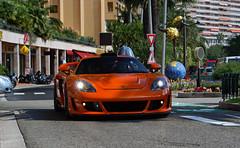 Porsche Gemballa Mirage GT driving in Monaco. (Martijn Kapper) Tags: summer orange top montecarlo monaco exotic porsche mirage carlo monte gt tuning marques carrera carreragt gemballa carspotter autogespot autospotten