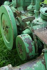 Flywheel and Brakes (D. Bjorn, Catchin' Up) Tags: spring farms johndeere 2010 nodak redrivervalley grandforkscounty equipmentandbuildings sawfromtheroads overbynorthwood