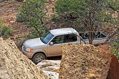 Tundra in Rocks, Miners Mountain (Bob Palin) Tags: 15fav usa utah toyota tundra waynecounty 100vistas instantfave nopin minersmountain orig:file=20100523eos30d87861000