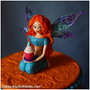 Winx Club Fairy Cake - Bloom (Cakes.KeyArtStudio.com) Tags: sculpture girl cake club wings fairy bloom figurine redhair fondant winx sugarpaste larissavolnitskaia