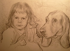 Mariah and Soapy (Sean-Cronin) Tags: portrait pencil mariah soapy juliakaysportraitparty mariahoneill