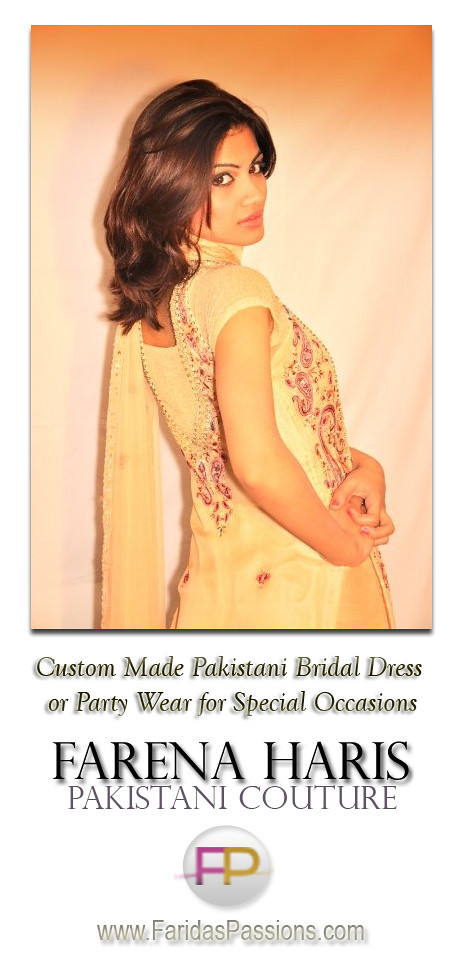 Designer Salwar Kameez from Pakistan. Pakistani Bridal Dress Shalwar Kamees Wedding Dress or Special Party Wear. Ethnic Haute Couture South Asian Authentic Designer Clothing Now Available at FaridasPassions.com height=964