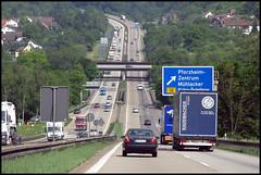 A8 Autobahn Motorway Germany (SJFoto1) Tags: auto street germany deutschland highway motorway stuttgart autobahn pforzheim a8 badenwrttemberg baw