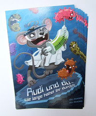 """Cell Invaders"" postcard (akrapf) Tags: mouse bacteria injection bacillus browsergame cellinvaders"
