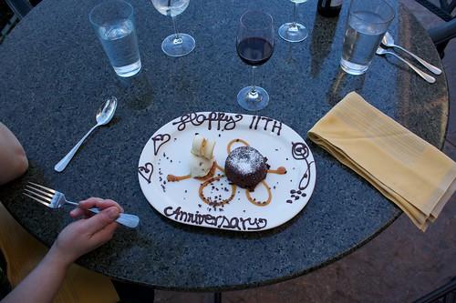 11th Anniversary dessert