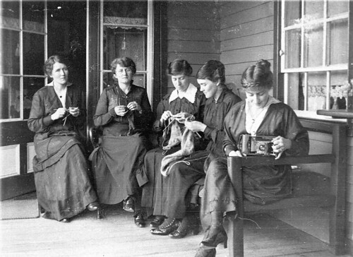 """'A souvenir of today at Cudgewa 25.10.16.' It looks something like a Red Cross meeting, but it's just the normal state of patriotic girls during the Great War."" - Cudgewa, Victoria, 25 October 1916 / photographer unknown"