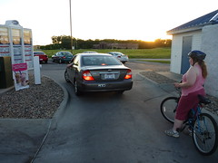 Biking through the Drive-Thru