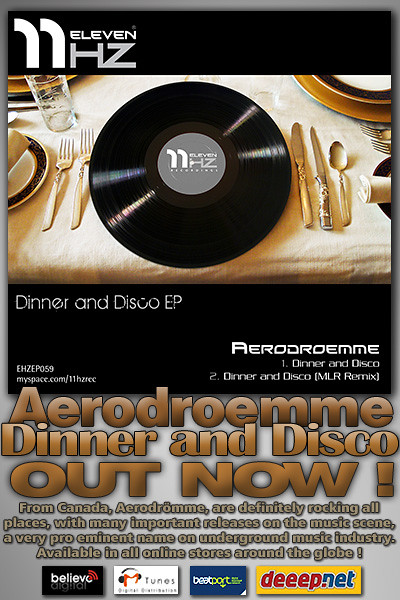 EHZEP059 - Aerodroemme - Dinner and Disco EP - 11Hz Recordings