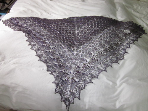 Swallowtail Shawl Complete!