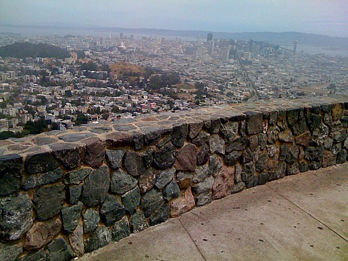 Foggy twin peaks view