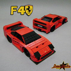 Ferrari F40 (ZetoVince) Tags: red car greek lego vince ferrari vehicle stubby f40 blackrims stubbies zeto foitsop 10wide pullbackmotor zetovince dreamdealer