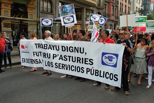 Fotos de la agitación de los CJC/CMC  y el PCPE-Asturies por la huelga general 4665576003_ee4f717f06