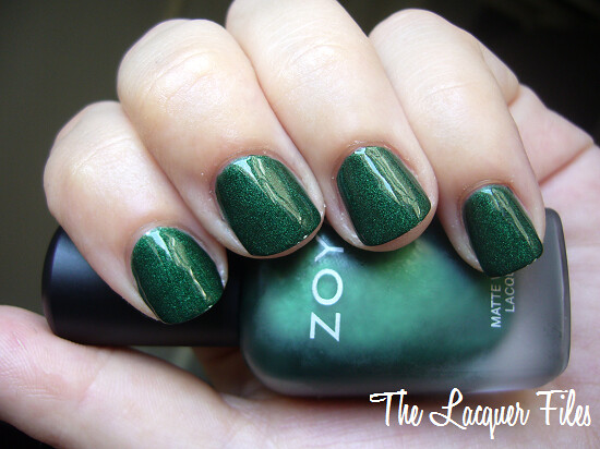 Zoya Veruschka Green Suede Matte Velvet Winter 2009 Collection Glossy Top Coat Nubar Diamont Seal & Shine
