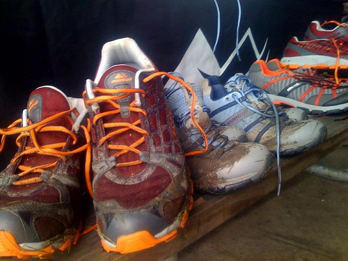 #Montrail demo shoes coming back in! Muddy day at @ChiTrailSeries Trail Challenge 8k!