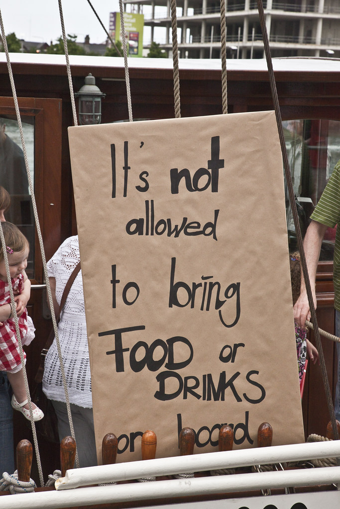 It Is Not Allowed To Bring Food Or Drinks On Board