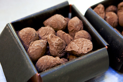 Cognac truffles, close up