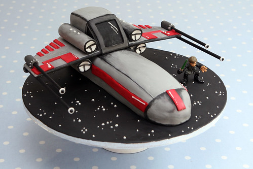 Star Wars X-Wing Cake