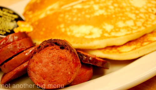 New York - Katz Deli - Pancakes with sausages