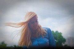 Windy (Tom Duncan Photography) Tags: woman hair long wind young blowing blond muted