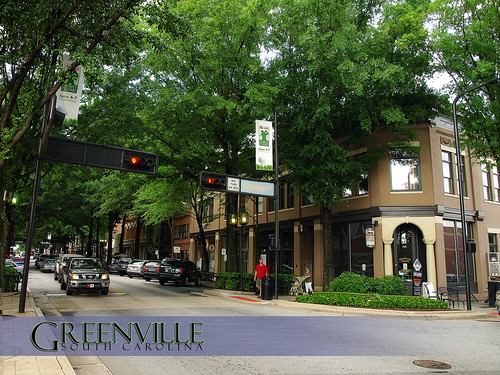 "A ""Postcard"" of Main Street - Greenville, South Carolina, USA"