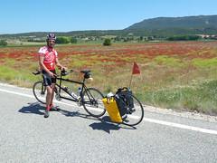 Camino de Santiago de Levante. Etapa 2 (Europa en Tandem) Tags: campodeamapolas europaentandem caminodesantiagodelevante