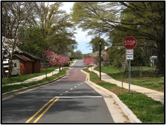 Traffic calming in Charlotte, NC. Photo: Charlotte DOT