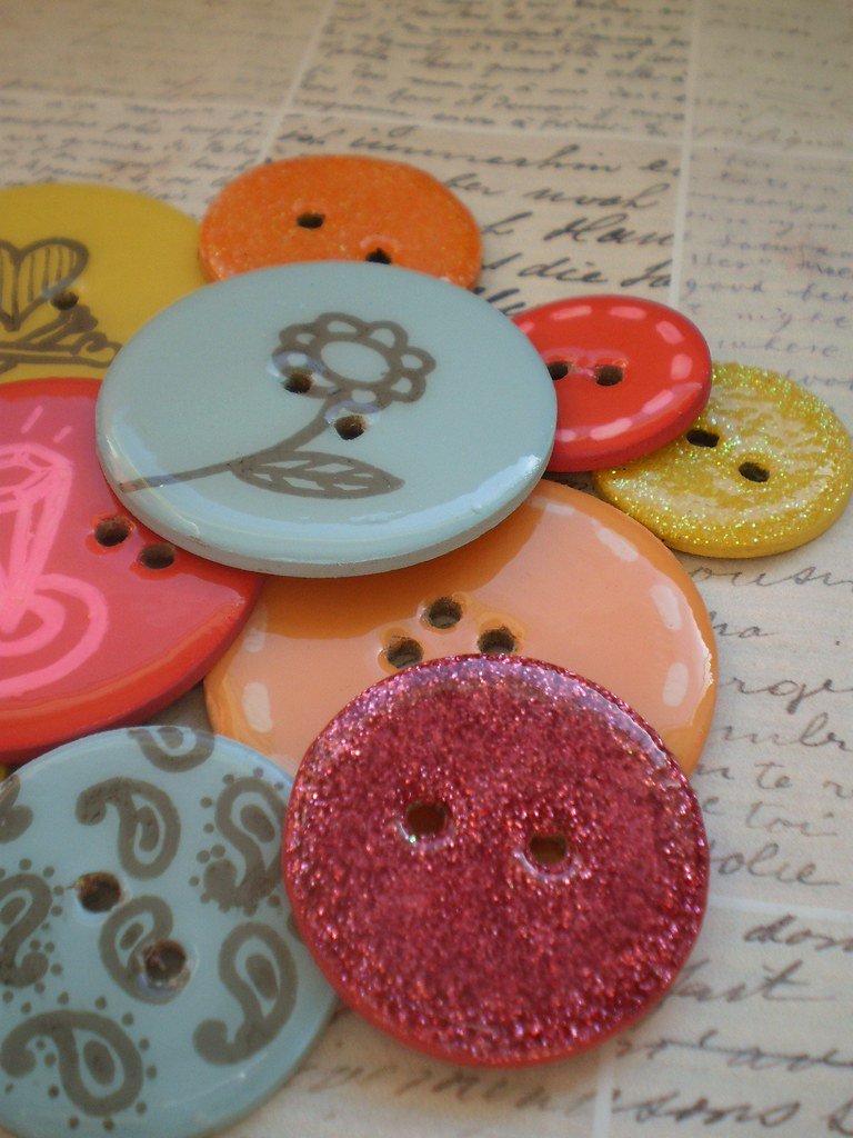 12 Round Chipboard Epoxy Button Embellishments with Journaling Tag and Coordinating Floss-Diamonds Are a Girl's Best Friend