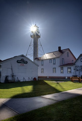 Whitefish Point Lighthouse (ETCphoto) Tags: shadow sunlight lighthouse buildings daylight paradise michigan hdr whitefishpoint 1788 photomatix lksuperior
