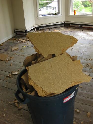 pulling up flooring