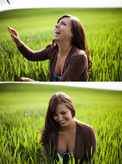 Maggie - Explore (jordanvoth.com) Tags: light 2 two cute green beautiful field smiling laughing canon 50mm diptych natural mark gorgeous 14 sunny maggie hills jordan explore ii 5d mk natty voth explored