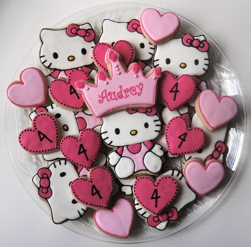 Hello Kitty Birthday Cookies. Facebook: Sugar Sanctuary