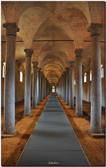 Vigevano - Le antiche scuderie - Prospettiva / Vigevano - The old stables - Perspective (G.hostbuster) Tags: old distortion columns perspective castellosforzesco lombardia antiche stables colonne vigevano prospettiva ghostbuster scuderie distorsione platinumphoto supercontest gigi49