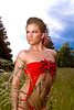 IMG_0313 (OregonVelo) Tags: blue trees red portrait sky woman green field grass female stars washington model ring trinity prowl washougal speakeasylingerie trinitystars